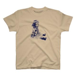 おすわりブリュ デルフトブルー T-shirts