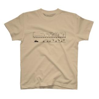 北の地獄T(印刷色:ブラック)  T-shirts
