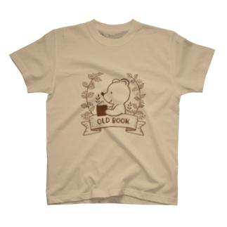 マヅメ ミユキ | atelier paccaのOLD BOOK(ブラウン) T-shirts