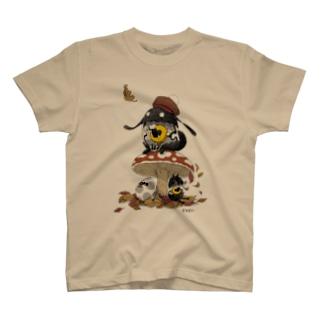 キノコとタマゴ T-shirts