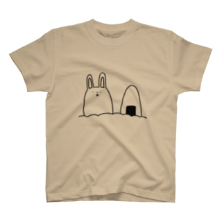 うさぎとおにぎり収穫 T-shirts