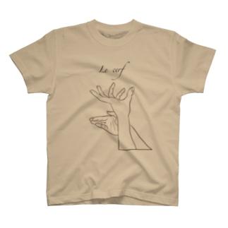 Jackalope  series  【雄鹿】 手影絵 T-shirts