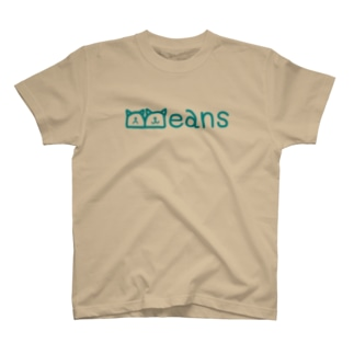 Beans北欧風ブルーロゴ T-shirts