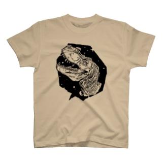 恐竜/白黒 T-shirts