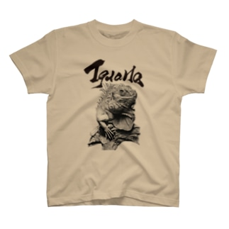 グリーンイグアナ(題字あり) | Iguana iguana T-Shirt