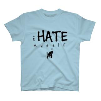 i HATE myself [Black] Tシャツ