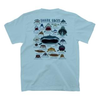 サメカオlightcolorバックプリント T-shirts