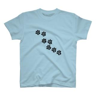 GO VEGAN 肉球 T-shirts