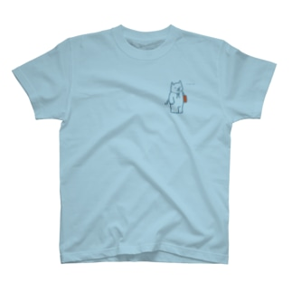 おしえてねこセンセイ(ブルー) T-shirts