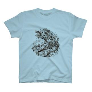 再生の庭・プレアデスの両脚のTシャツ T-shirts