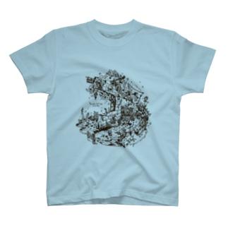 「再生の庭」Tシャツ(プレアデスの両脚) T-shirts