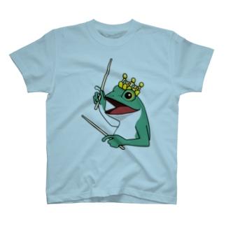 カエルとドラム T-shirts