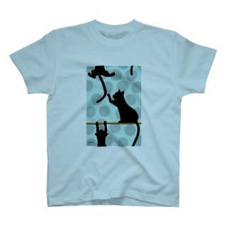 水玉とくろねこ T-shirts