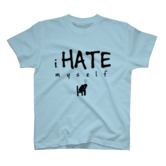 i HATE myself [Black] T-shirts