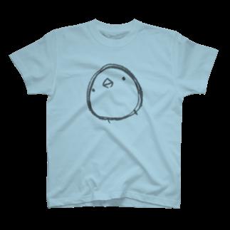 ひよこのもり工房の【復刻】シンプルひよこさん(2013)こげ茶 T-shirts