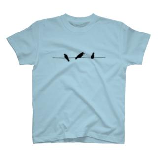 3連カラス T-shirts