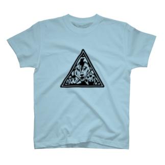 【動物×自然×標識】トラ×雷【透過】 T-shirts