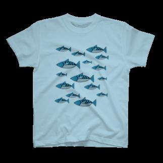 石川鯖右衛門のMaquereau君 T-shirts