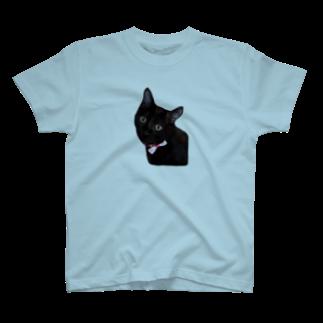 nekotayaの黒ねこジル T-shirts