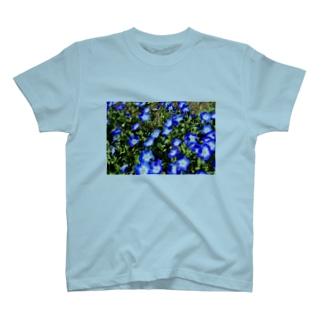 幸せの青い花 T-shirts
