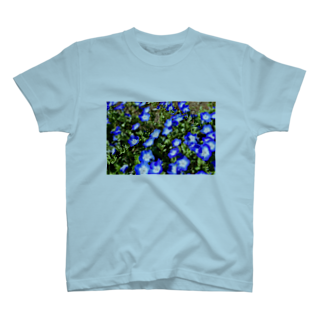 水りんご@ランニングマンの幸せの青い花 T-shirts