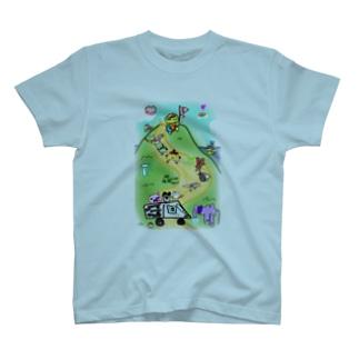 トリプルハートと仲間たち T-shirts