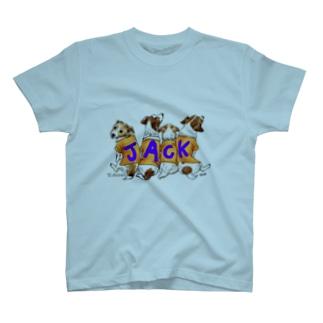ジャックラッセル、背中で語る。 T-shirts