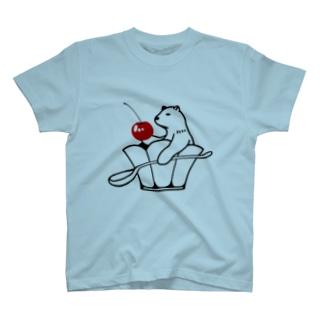 ひんやりシロクマ T-shirts