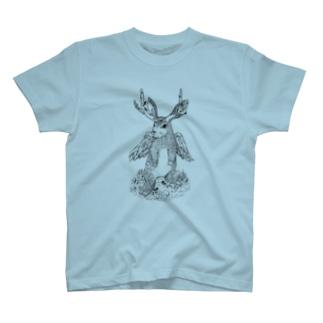 【UMAシリーズ】ジャッカロープ T-shirts