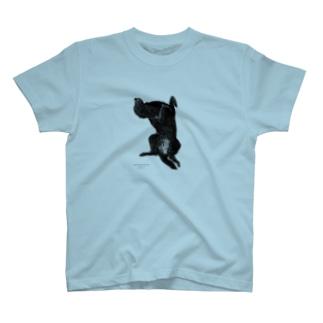 フラットコーテッドレトリバー T-shirts