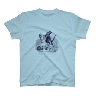 シルクハットのねこ<アンティーク・イラスト> T-shirts