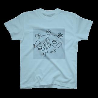 tomo4のラブアンドピース T-shirts