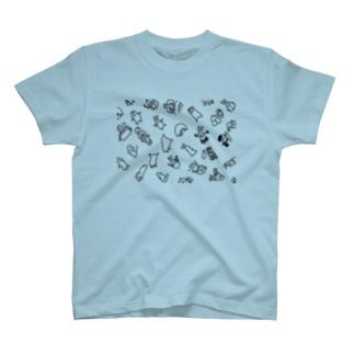 豆腐[ 'ω' ]のてぐせねこランダム2 T-shirts