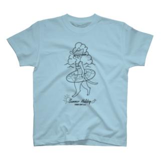夏休みニャンコ T-shirts