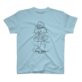 トンガリゴートの夏休みニャンコ T-shirts