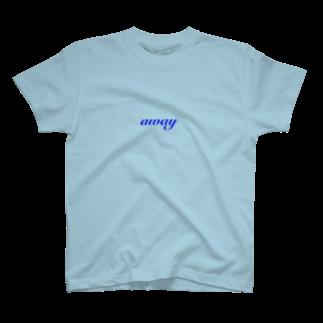 はるちゃんのニコニコ商店のaway(blue) T-shirts