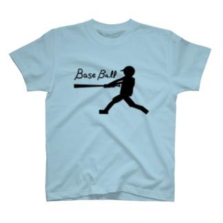 モノクロバッティング T-shirts