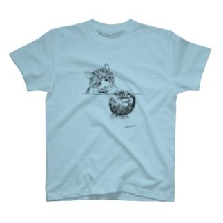 猫とりんご T-shirts
