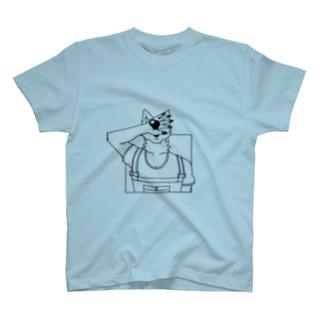 顔を隠す犬 T-shirts