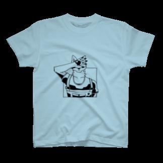 Wave180の顔を隠す犬(シャドウ) T-shirts