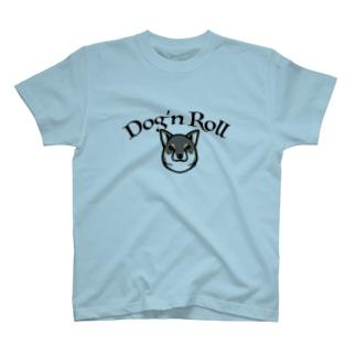 Dog'n Roll 黒柴 T-shirts
