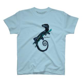 "Dark blanco ""Lizard"" T-shirts"