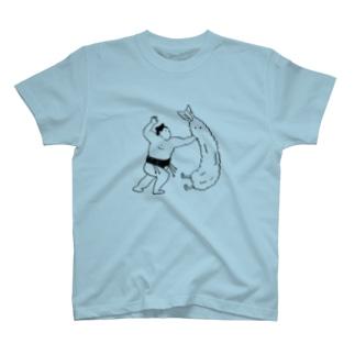 お相撲さんとエビフライ T-shirts