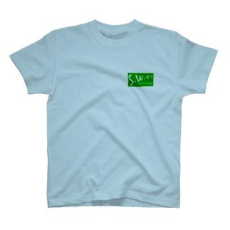 緑フル&黒ロゴ T-shirts