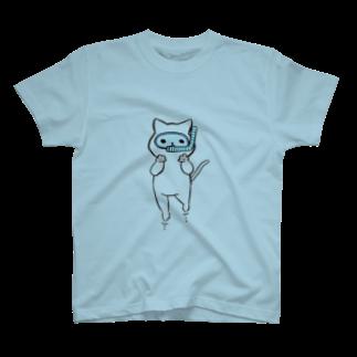 まをぢょっぷのシュノーケリングねこ T-shirts