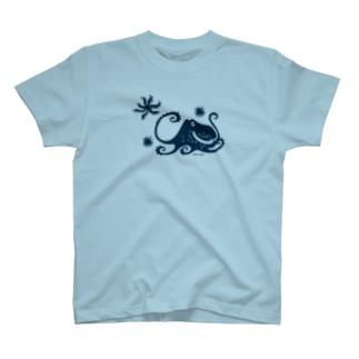 蒼い蛸 T-shirts