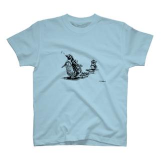 お魚こぼしてるよ裏表印刷T T-shirts