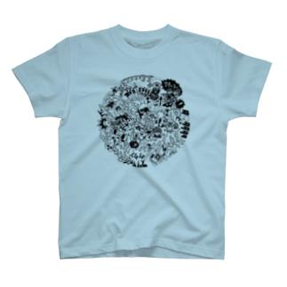 DOKAN_black T-shirts