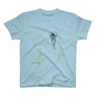 独身アパートどくだみ荘「飛び降りるヨシオ」 T-shirts