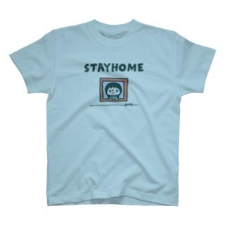 ステイホーム フタクチガール T-shirts